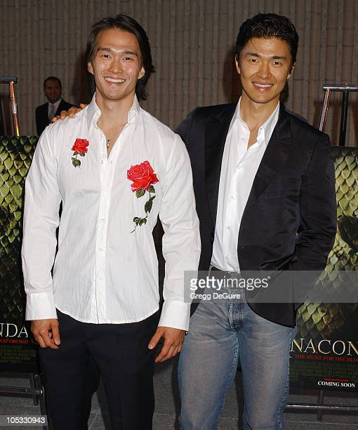 Karl Yune and brother Rick Yune during Anacondas The Hunt For The Blood Orchid Los Angeles Screening at Avco Cinema in Westwood California United...