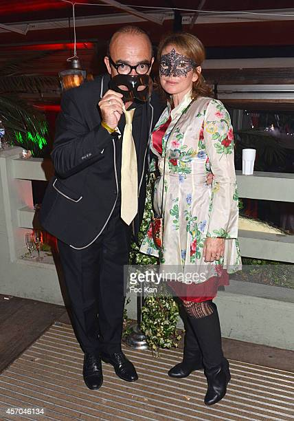 Karl Zero and Daisy DÕErrata attend the Marc Dorcel 35th Anniversary Masked Ball at the Chalet des Iles on October 10 2014 in Paris France