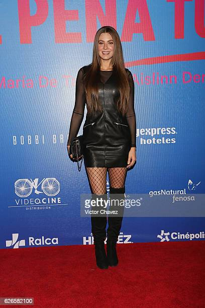 Karla Carrillo attends the Que Pena Tu Vida Mexico City Premiere at Cinepolis Oasis Coyoacan on November 29 2016 in Mexico City Mexico