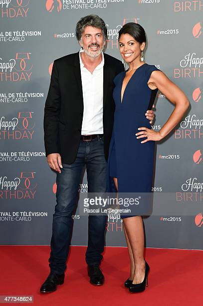 Karla CheathamMosley and Fabien Provost attend the 55th Monte Carlo Beach anniversary as part of Monte Carlo TV Festival on June 16 2015 in...