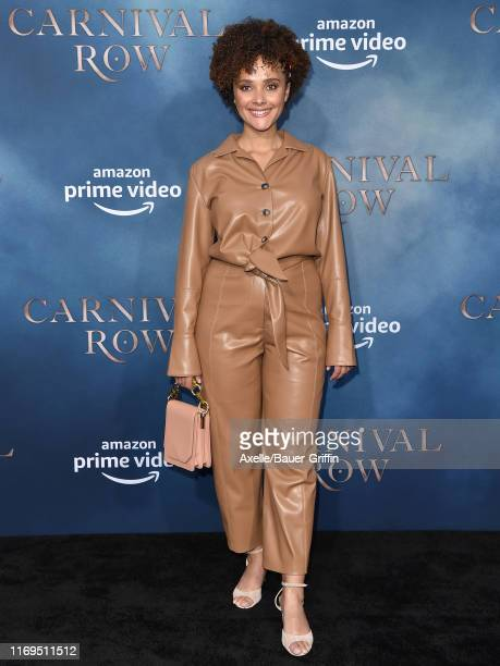 Karla Crome attends the LA Premiere of Amazon's Carnival Row at TCL Chinese Theatre on August 21 2019 in Hollywood California