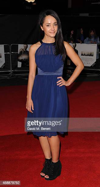 Karla Crome attends the UK Premiere of 'Kajaki The True Story' at Vue Leicester Square on November 12 2014 in London England