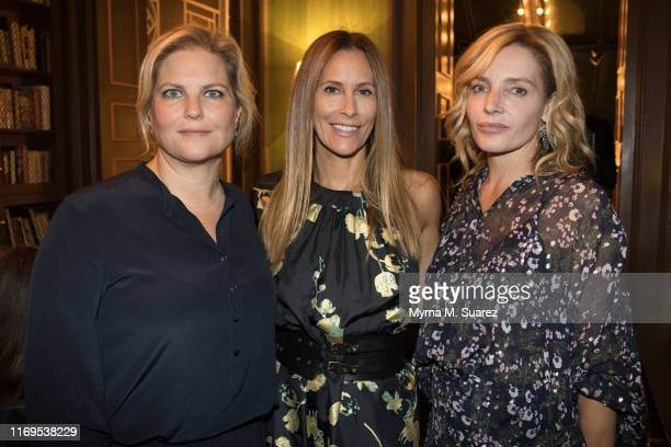 Karla Dascal Cristina Cuomo and Emma Pilkington attend the Plant Miami Rudd Wines dinner at James Beard House on September 18 2019 in New York City
