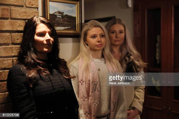 TORONTO ON JANUARY 29 Karla Ford and two of her daughters Doug Ford announcement of his bid for the leader of the PC party at his mom's house in...