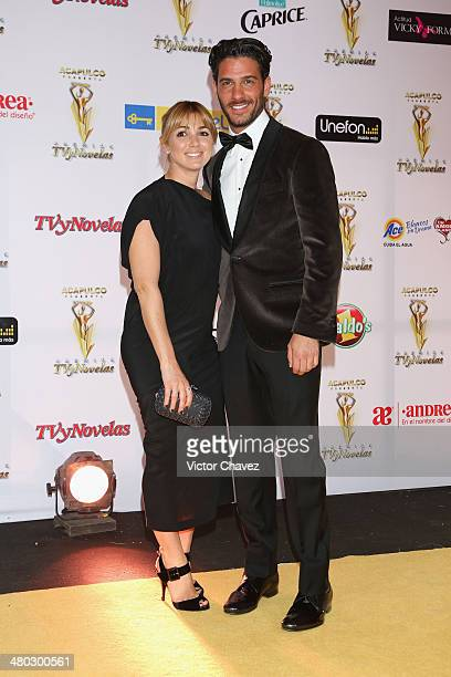 Karla Guindi and Erick Elías attend the Premios Tv y Novelas 2014 at Televisa Santa Fe on March 23 2014 in Mexico City Mexico