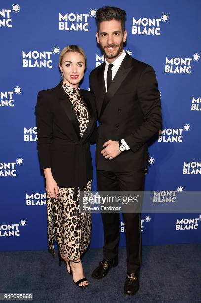 Karla Guindi and Erick Elias attend Montblanc Celebrates Le Petit Prince at the One World Trade Center Observatory on April 4 2018 in New York City