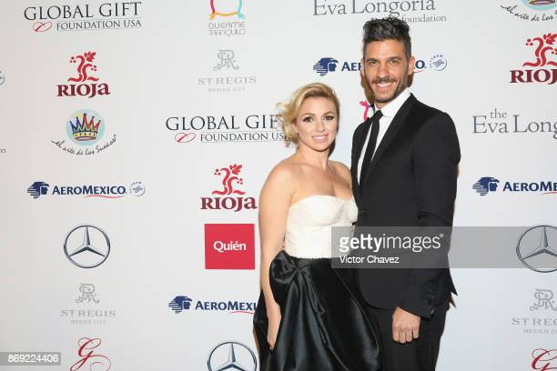 Karla Guindi and Erick Elias attend The Global Gift Gala Mexico 2017 at St Regis Hotel on November 1 2017 in Mexico City Mexico