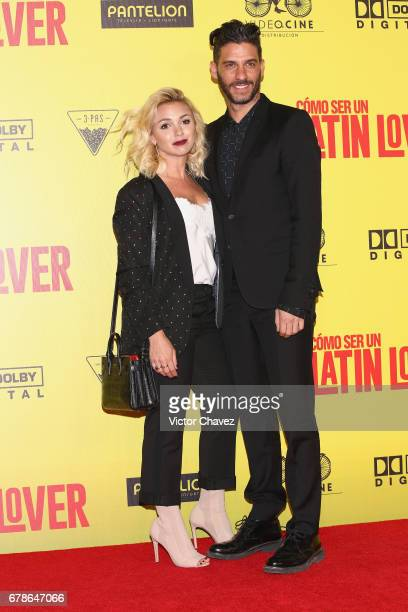 Karla Guindi and Erick Elias attend the How To Be A Latin Lover Mexico City premiere at Teatro Metropolitan on May 3 2017 in Mexico City Mexico