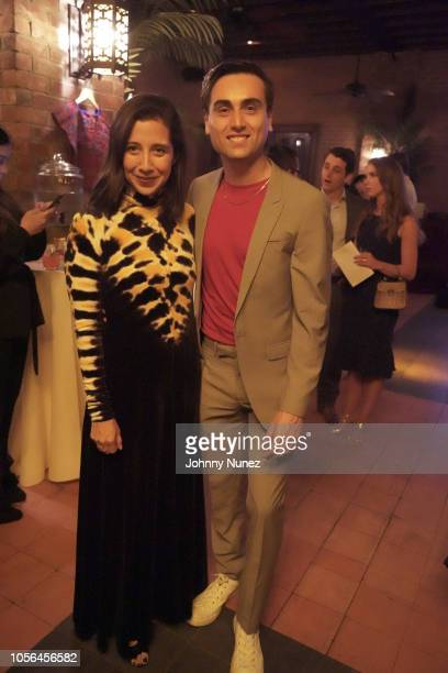 Karla Martinez and Adal attend the Mercado Global Fashion Forward Celebration at The Bowery Hotel on November 1 2018 in New York City