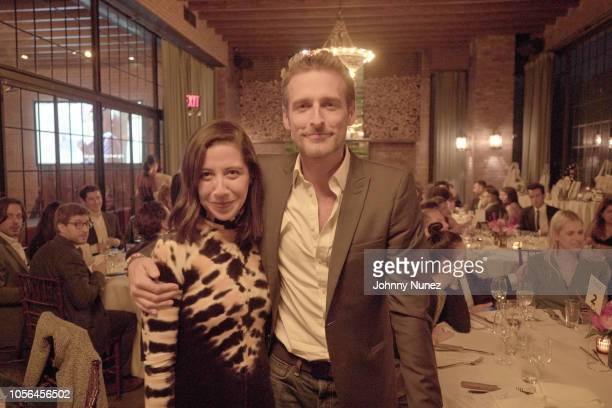 Karla Martinez and Alexi Lubomirski attend the Mercado Global Fashion Forward Celebration at The Bowery Hotel on November 1 2018 in New York City