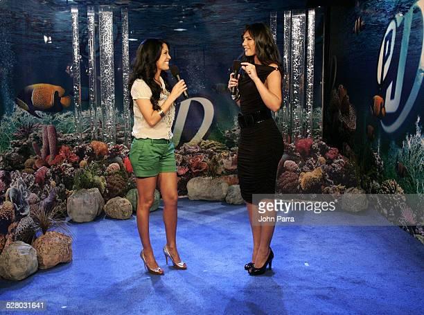 Karla Martinez and Ana Carolina Da Fonseca during Premio Juventud AwardsBackstage at University of Miami Bankunited Center in Miami Florida United...