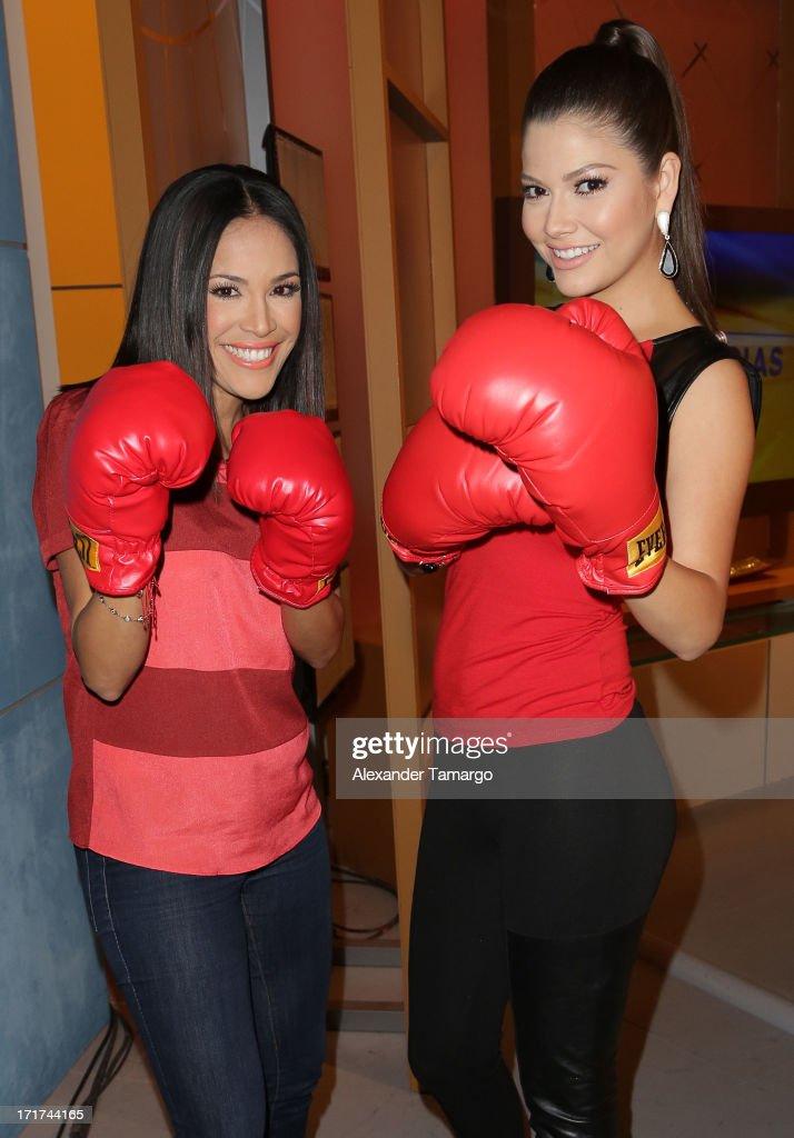 Karla Martinez and Ana Patricia Gonzalez appear on Univision's 'Despierta America' morning show at Univision Headquarters on June 28, 2013 in Miami, Florida.