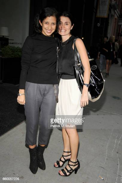 Karla Martinez and Florinka Pesenti attend DEREK LAM Boutique Opening at Derek Lam on May 6 2009 in New York City