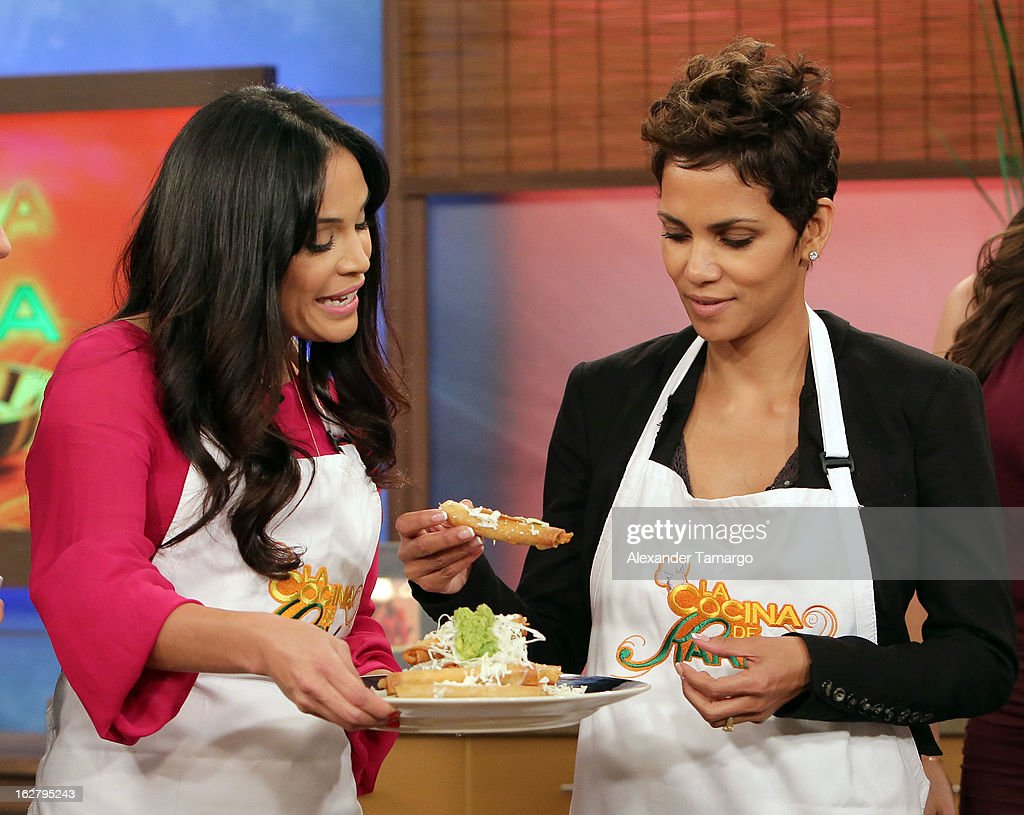Karla Martinez and Halle Berry appear on Univision's Despierta America to promote her film 'The Call' at Univision Headquarters on February 27, 2013 in Miami, Florida.