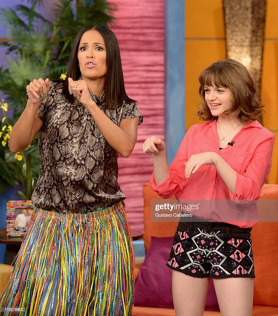 Karla Martinez and Joey King visits Univisions 'Despierta America at Univision Headquarters on July 10, 2013 in Miami, Florida.