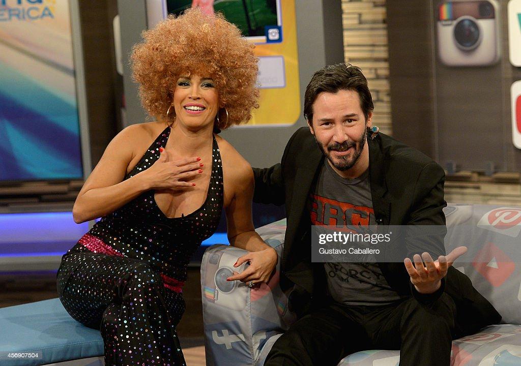 Celebrities On The Set of Univisions Despierta America