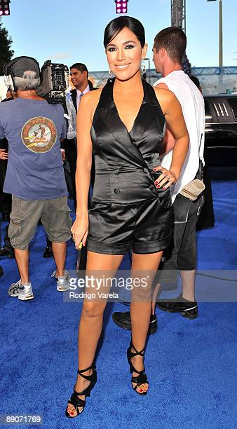 Karla Martinez arrives on the red carpet at the Univision's 2009 Premios Juventud Awards at Bank United Center on July 16 2009 in Coral Gables Florida