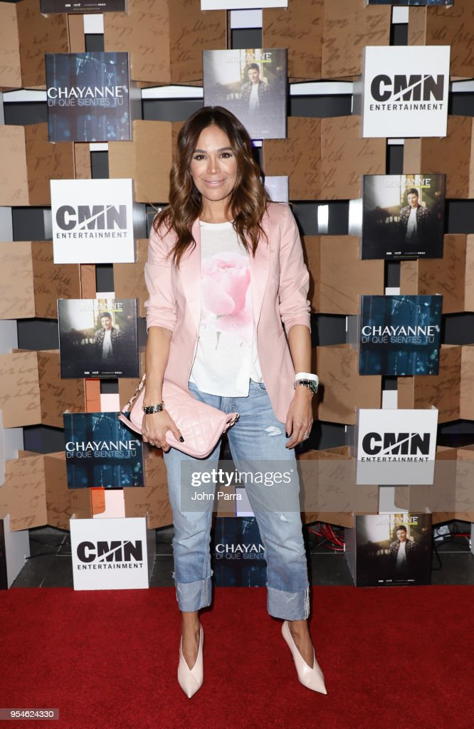 Karla Martinez attends the Di Que Sientes Tu new video preview, and Desde El ALMA Tour dates at Cobb CineBistro at CityPlace Doral on May 3, 2018 in Doral, Florida.