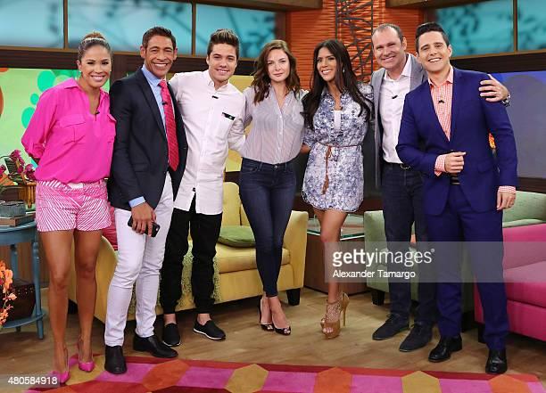 Karla Martinez Johnny Lozada William Valdes Rebecca Ferguson Francisca Lachapel Alan Tacher Alejandro Chaban are seen on the set of 'Despierta...