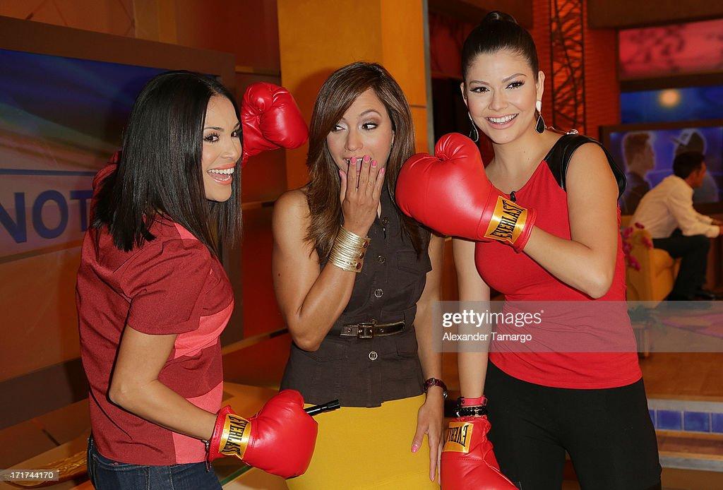 Karla Martinez, Satcha Pretto and Ana Patricia Gonzalez appear on Univision's 'Despierta America' morning show at Univision Headquarters on June 28, 2013 in Miami, Florida.