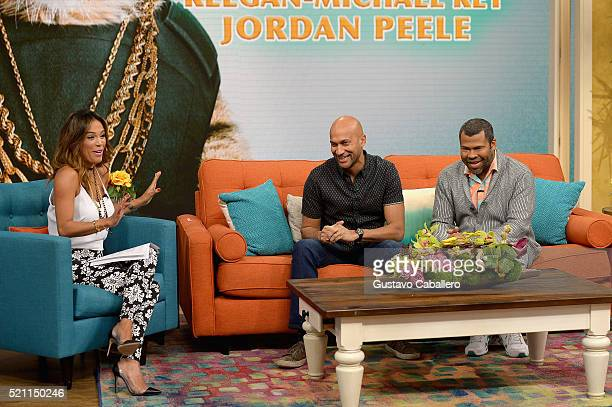 Karla MartinezKeeganMichael Key and Jordan Peele is on the set of Univisions despierta America in support of thefilm Keanu at Univision Headquarters...
