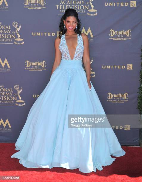 Karla Mosley arrives at the 44th Annual Daytime Emmy Awards at Pasadena Civic Auditorium on April 30 2017 in Pasadena California
