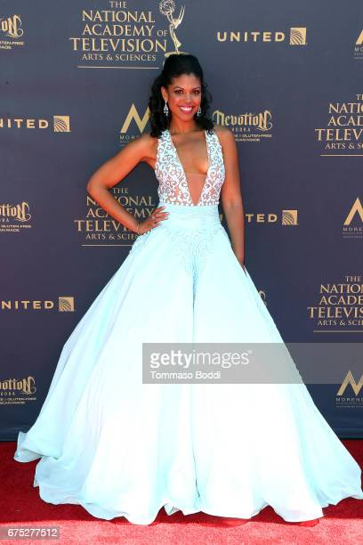 Karla Mosley attends the 44th Annual Daytime Emmy Awards at Pasadena Civic Auditorium on April 30 2017 in Pasadena California