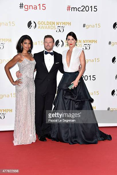 Karla Mosley Jacob Young and Jacqueline MacInnes Wood attend the closing ceremony of the 55th MonteCarlo Television Festival on June 18 in Monaco