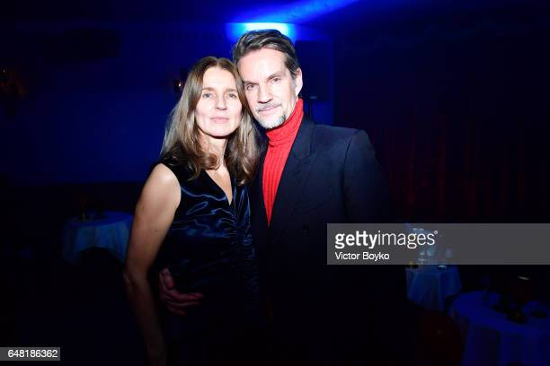 Karla Otto and Alexander Werz attend Natalia Vodianova's birthday Vogue Cabaret Party as part of the Paris Fashion Week Womenswear Fall/Winter...