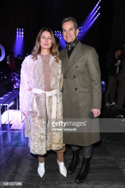 Karla Otto and Alexander Werz attend the Ermenegildo Zegna show during Milan Menswear Fashion Week Autumn/Winter 2019/20 on January 11 2019 in Milan...