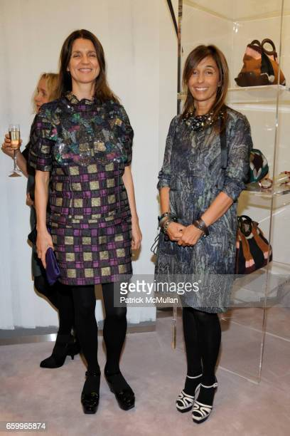 Karla Otto and Consuelo Castiglioni attend MARNI Uptown Opening Party at Marni Boutique on May 5, 2009 in New York City.