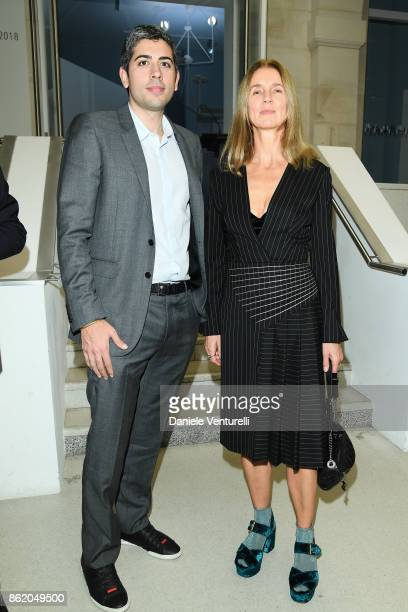 Karla Otto and Roy Sebag attend a cocktail in honour of Diana Widmaier Picasso and Alexander SC Rower awarded with the Chevalier and Officier de...