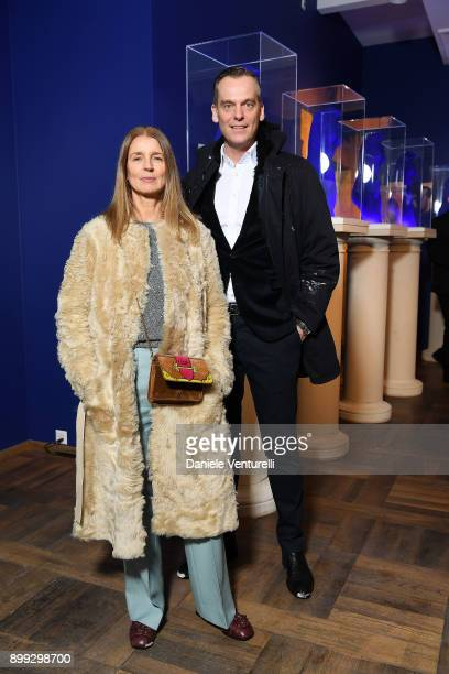Karla Otto attends Galerie Gmurzynska Hosts Diana WidmaierPicasso in Celebration of Mene 24K and Yves Klein on December 27 2017 in St Moritz...