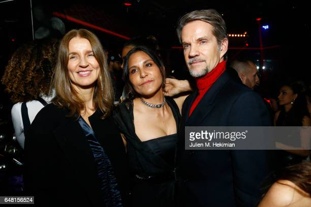 Karla Otto Laurie Lynn Stark and Alexander Werz attend Chrome Hearts X Bella Hadid Collaboration Launch as part of Paris Fashion Week at Chrome...