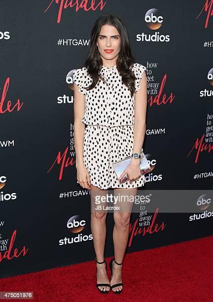 Karla Souza arrives at 'How To Get Away With Murder' ATAS event held at Sunset Gower Studios on May 28 2015 in Hollywood California