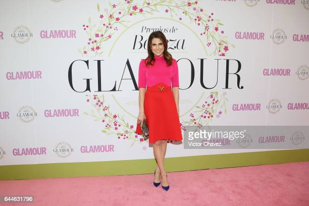 Karla Souza attends the Glamour Mexico magazine Beauty Awards 2016 at Jardin Versal on February 23 2017 in Mexico City Mexico