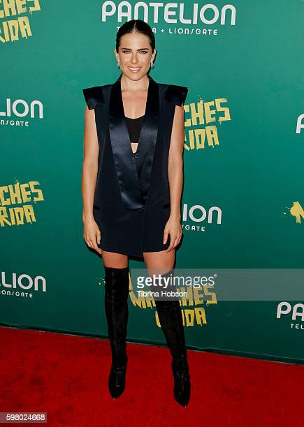 Karla Souza attends the premiere of Pantelion Films 'No Manches Frida' at Regal LA Live Stadium 14 on August 30 2016 in Los Angeles California