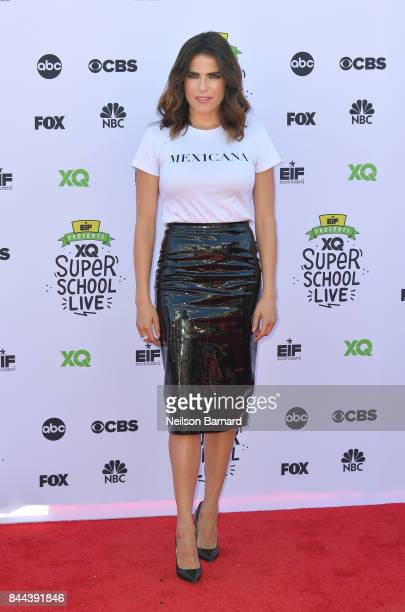 Karla Souza attends XQ Super School Live presented by EIF at Barker Hangar on September 8 2017 in Santa California