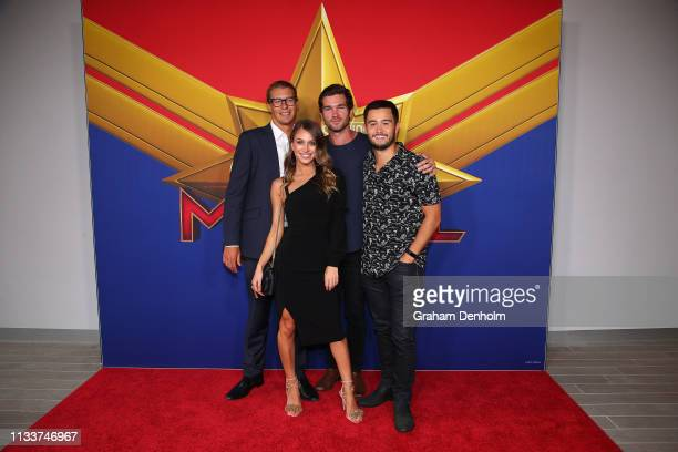 Karla Tonkich Takaya Honda and friends attend the Marvel Studios' Captain Marvel Premiere at Hoyts The District Docklands on March 05 2019 in...