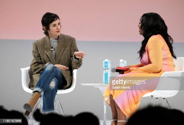 Karla Welch speaks with Teen Vogue editorinchief Lindsay Peoples Wagner at the 2019 Teen Vogue Summit at Goya Studios on November 02 2019 in...