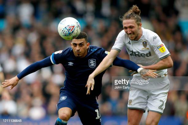 Karlan Grant of Huddersfield Town during the Sky Bet Championship match between Leeds United and Huddersfield Town at Elland Road on March 07 2020 in...