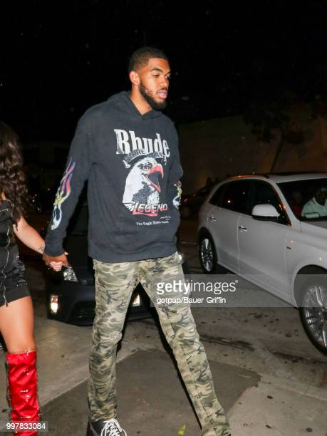 KarlAnthony Towns is seen on July 12 2018 in Los Angeles California