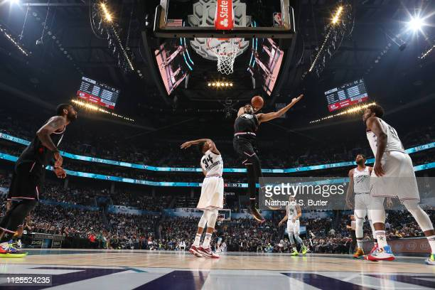 KarlAnthony Towns of Team LeBron dunks the ball against Team Giannis during the 2019 NBA AllStar Game on February 17 2019 at the Spectrum Center in...