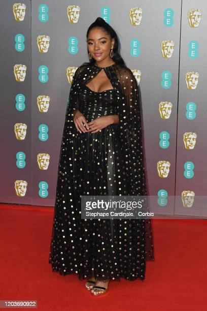 Karla-Simone Spence attends the EE British Academy Film Awards 2020 at Royal Albert Hall on February 02, 2020 in London, England.