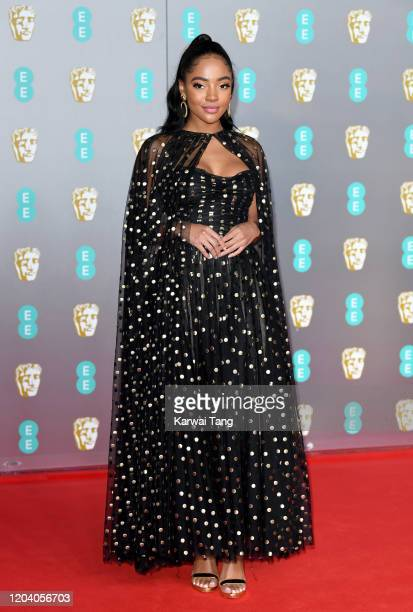 KarlaSimone Spence attends the EE British Academy Film Awards 2020 at Royal Albert Hall on February 02 2020 in London England
