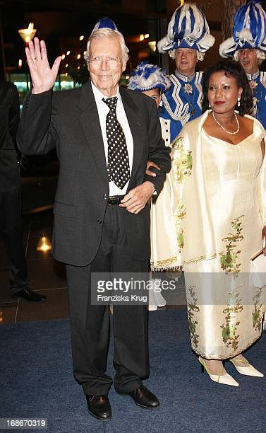 Karlheinz Böhm and wife Almaz at The UNESCO Charity Gala at the Maritim Hotel in Dusseldorf