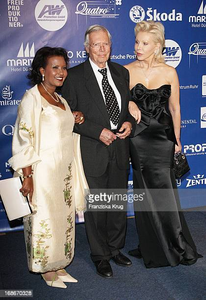 Karlheinz Böhm wife Almaz and and Ute Ohoven at The UNESCO Charity Gala at the Maritim Hotel in Dusseldorf