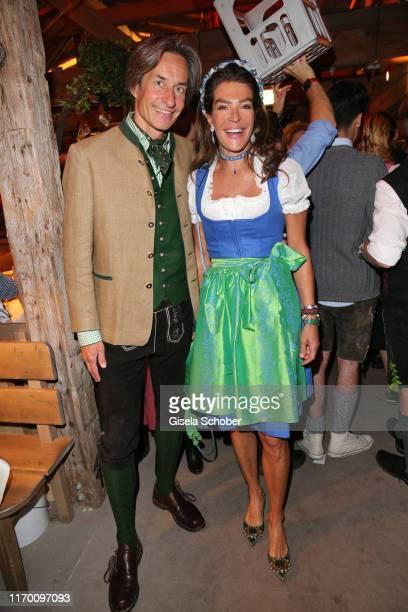 Karl-Heinz Grasser, Fiona Swarovski during the Oktoberfest 2019 opening at Theresienwiese on September 21, 2019 in Munich, Germany.