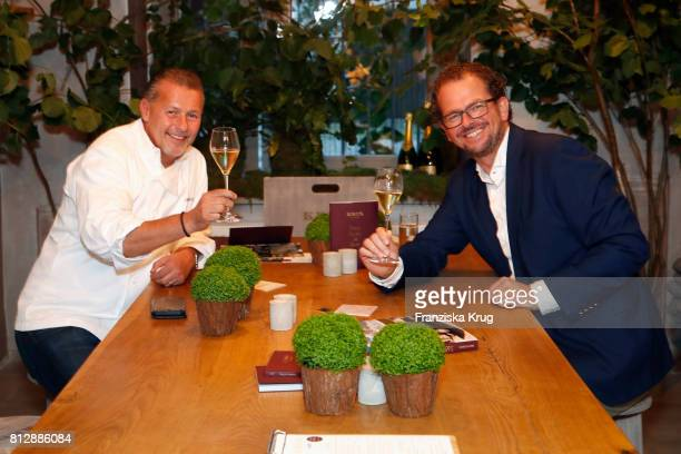 KarlHeinz Hauser and JensPeter Gardthausen attend the 'Krug Kiosk' Event on July 11 2017 in Hamburg Germany