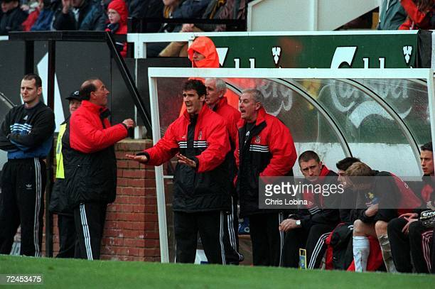 KarlHeinz Reidler and Roy Evans of Fulham giving orders to their team during the match between Fulham v Crystal Palace in the Nationwide League...